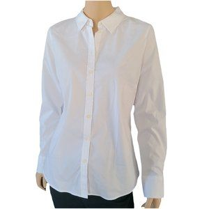 BANANA REPULIC NWT White Riley Tailored Shirt 10